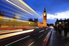 Big Ben London at night Stock Photos