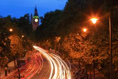 Big Ben London at night Royalty Free Stock Photography