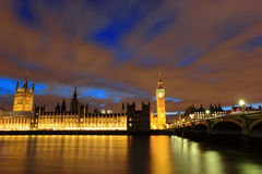 Big Ben London at night Stock Images