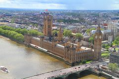 Big Ben London. Photo showing an aerial view of Big Ben in London city Stock Photography