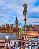 Big Ben London postcards Clock tower in UK Royalty Free Stock Photography