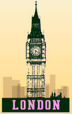 Big ben in london. Poster concept, stock vector Stock Images