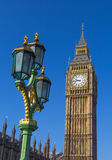 Big Ben and a London Street Lamp Royalty Free Stock Photography