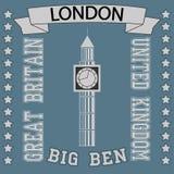 Big Ben London t-shirt stock illustration