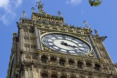 Big Ben , London. Top of Big Ben on a sunny day, London ,UK Stock Photos