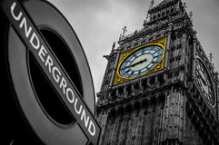 Big Ben London. Big Ben tower clock London Royalty Free Stock Photography