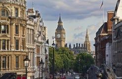 Big Ben in London. Big Ben tower, seen from Trafalgar Square in London, UK Royalty Free Stock Photos