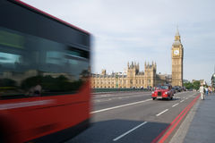 Big Ben and London traffic Stock Image