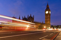 Big Ben London. Big Ben and traffic lights in London, UK royalty free stock photography