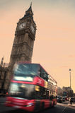Big Ben and London transport Stock Photos