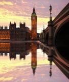 Big Ben, London, UK. Big Ben with bridge, Westminster, London, UK Stock Photos