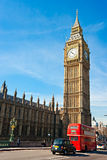 The Big Ben, London, UK. The Big Ben, the House of Parliament and the Westminster Bridge at night, London, UK Stock Image