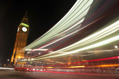 Big Ben London (UK). Night life in London at Westminster Abbey Stock Image