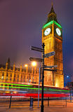 The Big Ben, London, UK. The Big Ben at night, London, UK Stock Photography