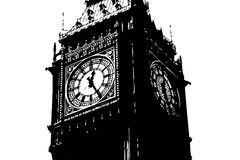 Big Ben London UK. An illustration showing Big Ben the clock in London UK by the river thames Royalty Free Stock Image