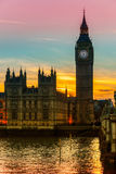 The Big Ben,  London, UK. Royalty Free Stock Images