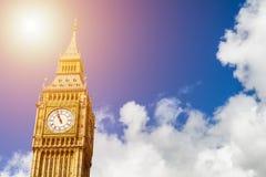 Big Ben, London, UK. A view of the popular London landmark, the Royalty Free Stock Photography