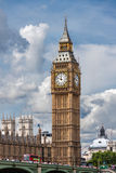 The Big Ben in London. LONDON, UNITED KINGDOM - AUGUST 4: The Elizabeth Tower on August 4, 2014 in London. The Clock Tower, named in tribute to Queen Elizabeth royalty free stock photography