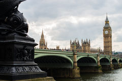 Big Ben in London, United Kingdom. Day view of House of Parliament and Big Ben in London, United Kingdom royalty free stock photography