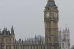 Big Ben in London, the United Kingdom. Big Ben is the nickname for the Great Bell of the clock at the north end of the Palace of Westminster in London, and often Stock Photography