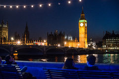 Big Ben in London, United Kingdom. Night view of House of Parliament and Big Ben in London, United Kingdom royalty free stock images