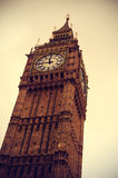 Big Ben in London, United Kingdom, with a retro effect Royalty Free Stock Images