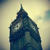 Big Ben a Londra, Regno Unito, con un retro effetto Immagini Stock