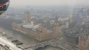 Big Ben Londra Westminster vue de haut Fotografia Stock