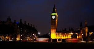 Big Ben, Londres, medianoche Fotografía de archivo