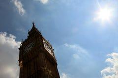 Big Ben - Londres - un día de las Olimpiadas 2012 Imagen de archivo