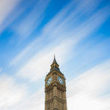 The Big Ben. Long exposure on moving cloud. Stock Images