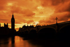 Big ben, long exposure,sunset, London UK Stock Images