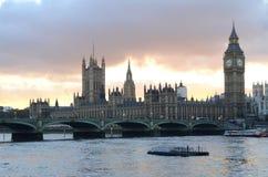 Big Ben met de rivier Royalty-vrije Stock Foto's