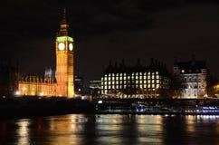 Big Ben met de rivier Stock Afbeelding