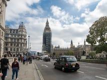 Big Ben met Steiger 02 Royalty-vrije Stock Foto's