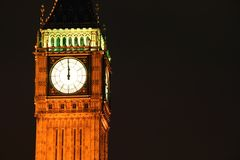 Big Ben at midnight Stock Images