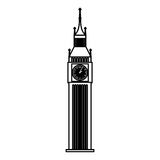 Big ben monument icon Royalty Free Stock Images
