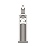 Big ben monument icon Stock Image