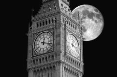 Big Ben moon Royalty Free Stock Image