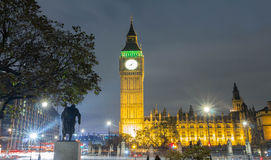Big Ben na noite, Inglaterra, Reino Unido Fotos de Stock