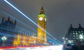 Big Ben na noite, Inglaterra, Reino Unido Fotos de Stock Royalty Free