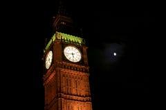 Big Ben nachts stockbilder