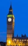 Big Ben nachts Stockbild