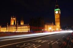 Big Ben nachts Lizenzfreies Stockfoto