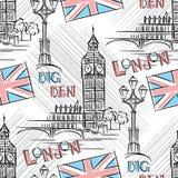 Big Ben nahtlos Stockfotografie