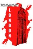 Big Ben nakreślenie na czerwonym punkcie Obraz Stock