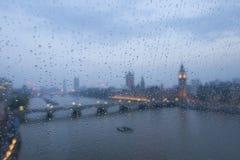 Big Ben nella pioggia Fotografia Stock Libera da Diritti