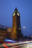 Big Ben by night. Long exposure photography of Big Ben, London royalty free stock photography