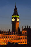 The Big Ben at night Royalty Free Stock Photography