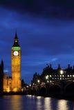 Big Ben at night. Illuminated Big Ben at night, London Stock Photo